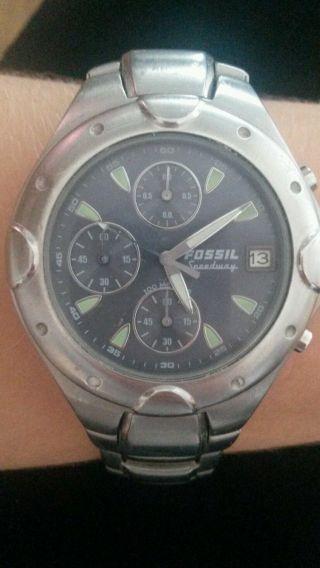 Fossil Speedway 2310 Herrenuhr Armbanduhr Silber Bild