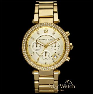 Michael Kors Damen Uhr Mk5354 Chronograph Edelstahl Ovp Bild