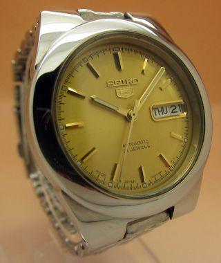Seiko 5 Durchsichtig Automatik Uhr 7s26 - 00x0 21 Jewels Datum & Tag Bild