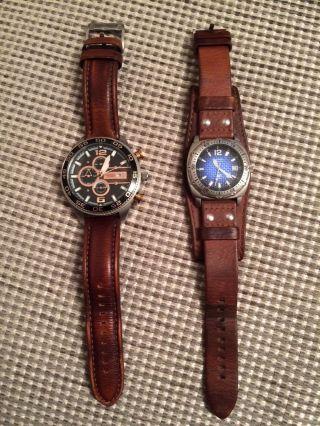 Verkaufe Zwei Defekte Herren - Uhren Von Fossil Bild