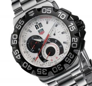 Tag Heuer Formula 1 Grande Date Chronograph Herrenuhr Cah1011.  Ba0860 Men ' S Watch Bild