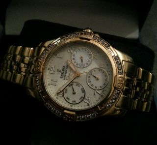 Festina Several M6p29 10atm Stainless Steel Case 10 Mic Gold Plated Bild