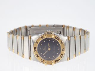 Omega Constellation Damen Armbanduhr Stahl 18 K 750 Gelb Gold Quarz Bild