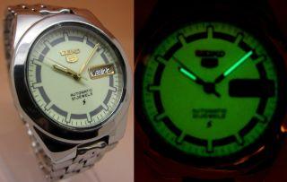 Seiko 5 Lumi Durchsichtig Automatik Uhr 7s26 - 02v0 21 Jewels Datum&tag Bild
