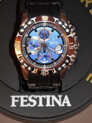 Festina Chronograph Tour De France 2011 Sammlerstück Wenig Getragen Bild