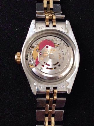 Rolex Date Stahl Gold Mit Echtheitszertifikat Damenuhr Lünette Mit 12 Diamanten Bild