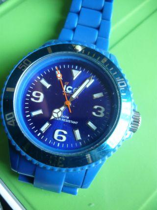 Top,  Ice Watch Blau Silikon Armband Uhr Datum Herren Jungen Kinder Bild