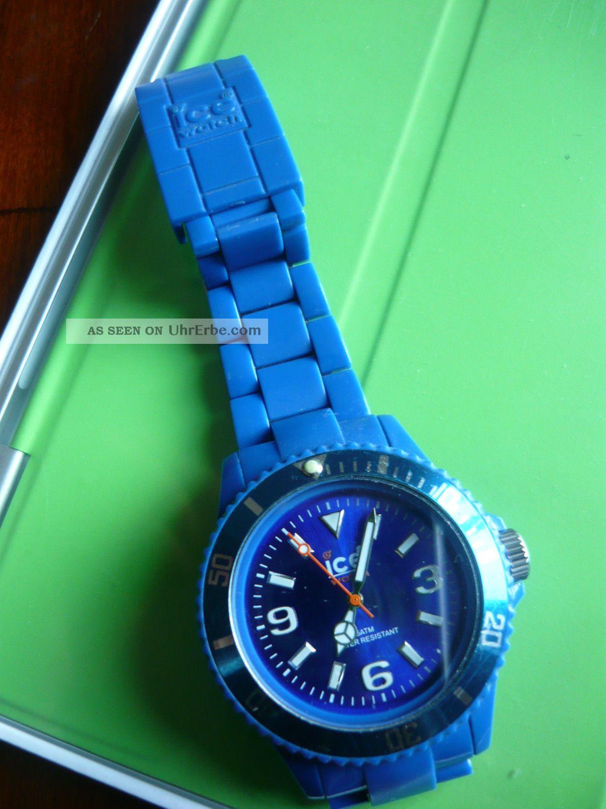 top ice watch blau silikon armband uhr datum herren