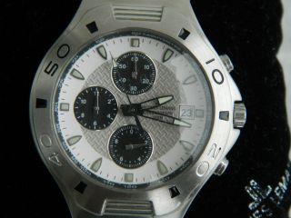 Hau - Jaques Lemans Chronograph Weiß - Blau - Silber - Herrenarmbanduhr Bild