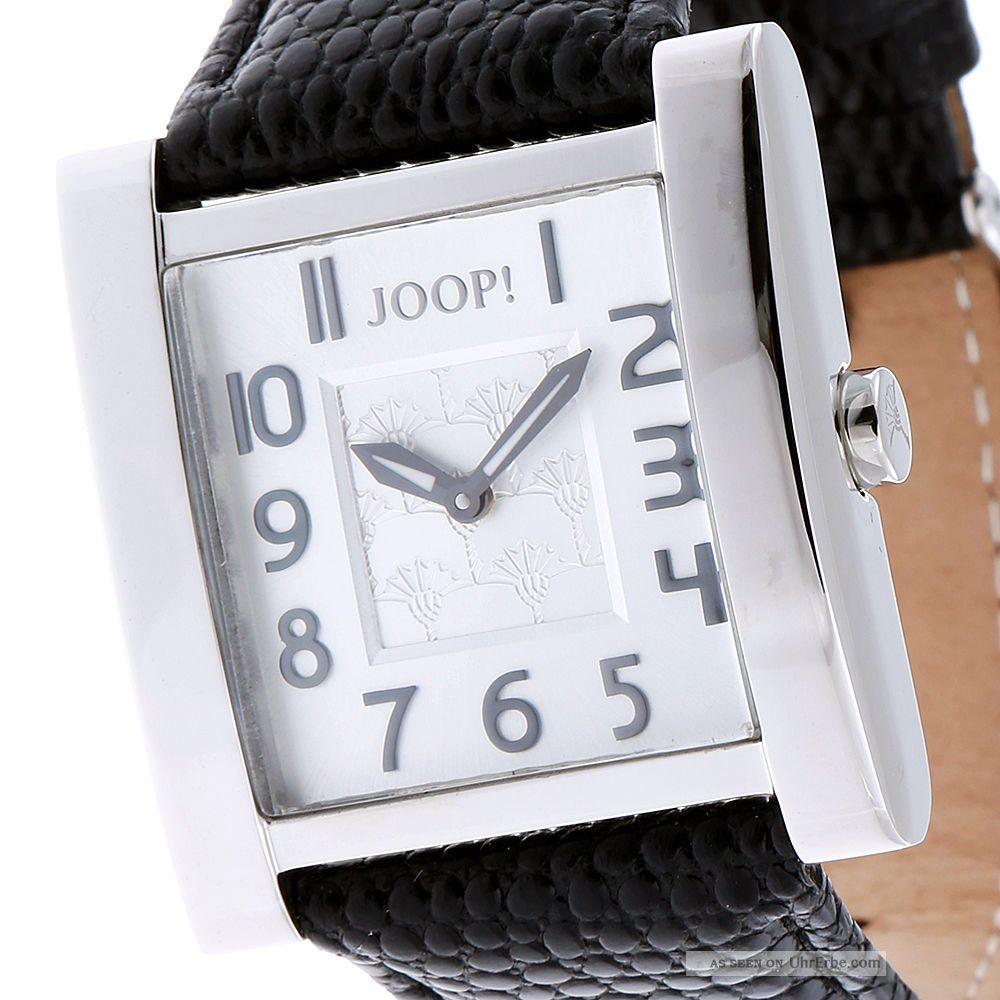 Joop Damenuhr Jp100602f01 Edelstahl Leder Schwarz, Armbanduhren Bild