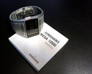 Junghans Funkuhr Mega 1000 26/4502 Quadband Radio Controlled Watch Edelstahlband Bild