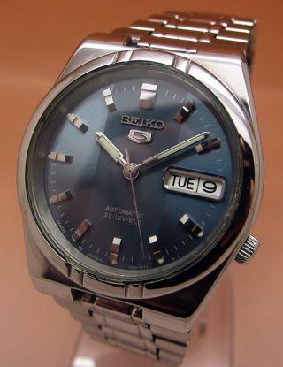 Seiko 5 Durchsichtig Automatik Uhr 7s26 - 01h0 21 Jewels Datum&tag Bild