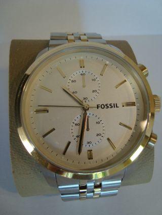 Fossil Fs4785 Townsman Mens Dress - Herren Armbanduhr - Xl Chronograph - Bild