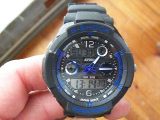Skmei Herren Armbanduhr,  Shock Uhr,  3 Atm,  Digital,  Analog,  Quarzuhr,  Stopuhr Bild