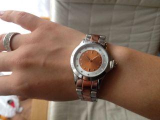 Weihnachten Geschenk Damen Glamour Strass Armbanduhr Gold Silber Armband Uhr Bild