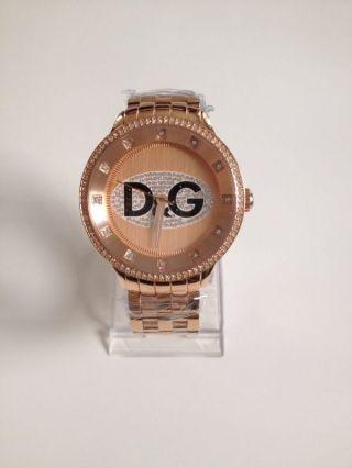 D&g Prime Time Dw0847 Top Moderne Uhr Ovp Hinkucker Rose Gold Unisex Uhr Bild