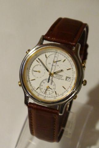 Seiko Chronograph / Armbanduhr Kaliber 7t32 - 6a50,  Gepflegter Bild