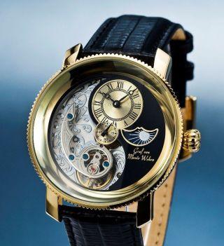 Graf Von Monte Wehro Blackpool Herren Armband Uhr Yin & Yang Tag & Nachtanzeige Bild