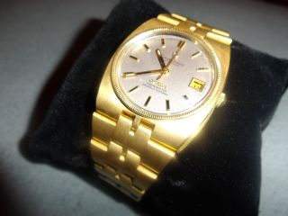 Omega Constellation Herrenuhr 18k / 750er Gelbgold Bild