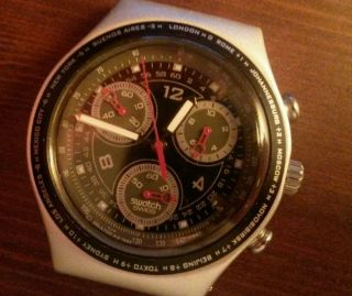 Swatch Irony Chrono ° Restless ° Ycs4000ag ° Analog Bild