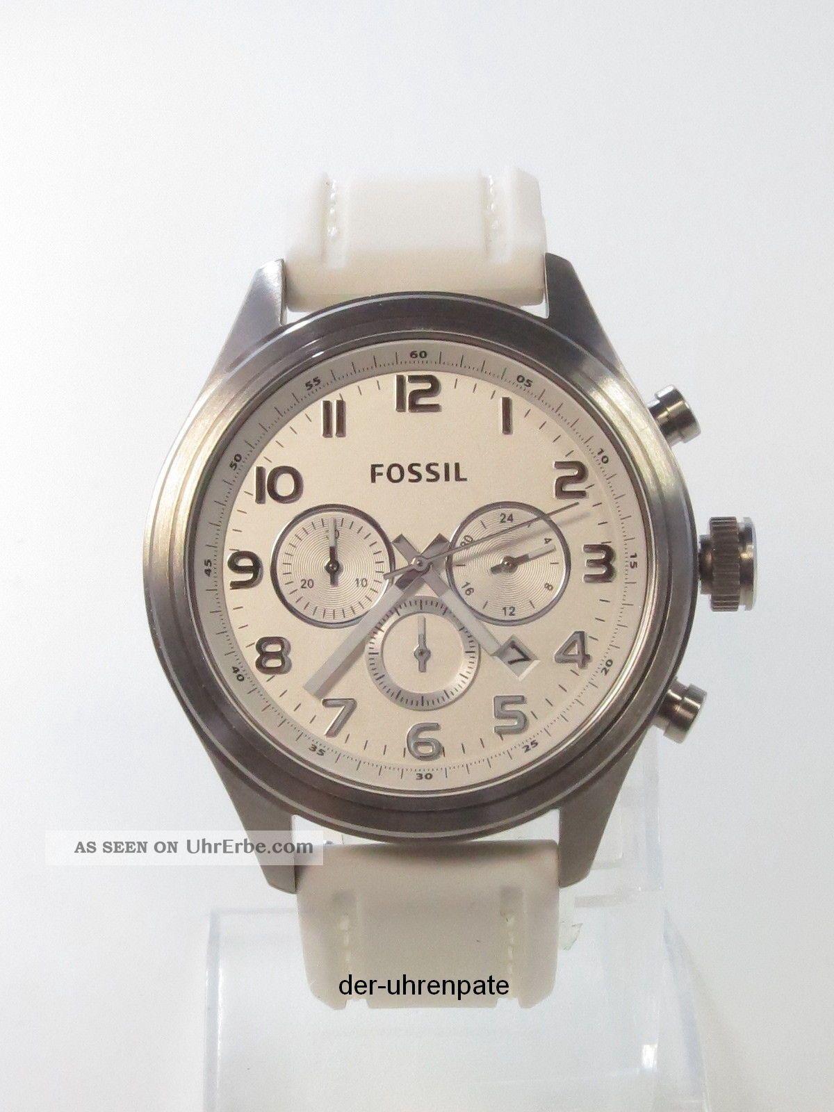 fossil herrenuhr herren uhr silikon chronograph datum. Black Bedroom Furniture Sets. Home Design Ideas