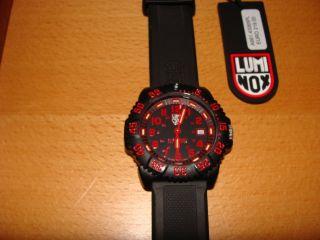 Luminox Uhr Colormark Navy Seal Schwarz Rot Mit Ovp Tactical Sport Cool Bild