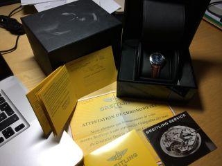 Breitling Wings Lady Incl.  Box Und Papiere Edeles Blaues Ziffernblatt Bild