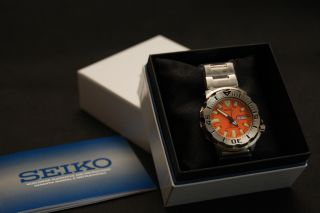 Seiko Automatikuhr 5 Sports Diver ' S Skx781k1 Orange Monster Bild