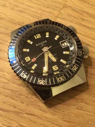 Sicura (später Breitling) / Diver / 400m / 23 Jewels / Swiss Made / Rar Bild