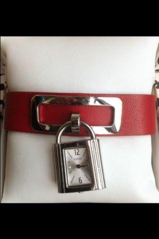 Guess Armbanduhr Leder Rot Designeruhr Bild