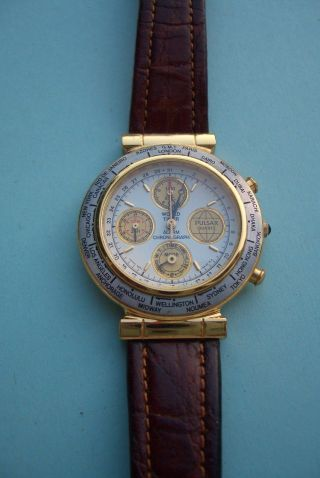 Herren Armbanduhr Pulsar Chronograph Bild