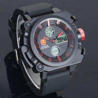 Zeiger Herren Uhr Sport Uhr Chronograph Alarm Datum Tag 2 Zeitzonen Armbanduhr Bild