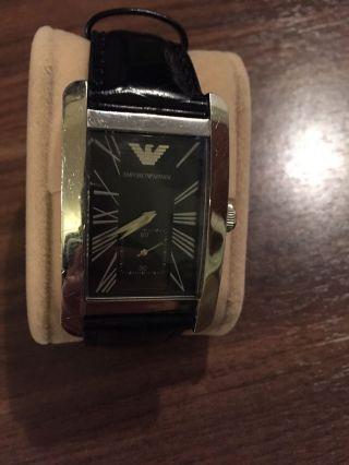 Emporio Armani Herrenuhr - Schwarz (ar0144) - Neues Armband Bild