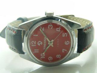 Seltene Tressa Uhr 17 Juwelen Handaufzug Vintage Schweizer Werk Bild