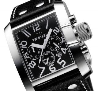Tw Steel Herrenuhr Chronograph Big Steel Black Edit.  Uvp 349 Ovp Men ' S Watch Bild