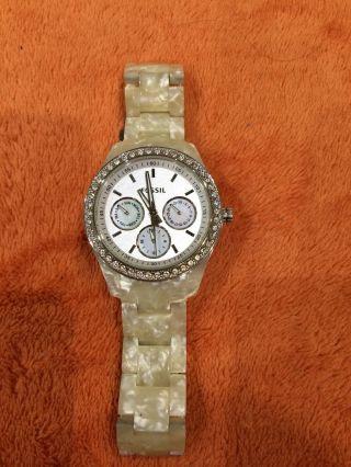 Fossil Damenuhr Es2790 Multifunktions Uhr Ladies Dress Top Voll Funktionsfähig Bild
