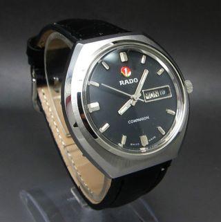Schwarz Rado Companion 25 Jewels Mit Tag/datumanzeige Mechanische Uhr Bild