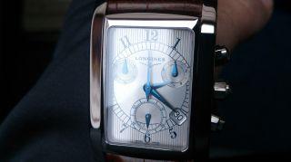 Longines Dolce Vita Herren Uhr Chronograph Edelstahl Saphirglas Gebläute Zeiger Bild