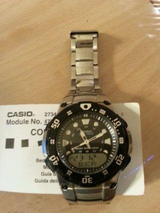 Casio - Wave Ceptor - Wva - 107he - - 10bar (100m) - Drehbare Lynette - Leuchtanzeige Bild