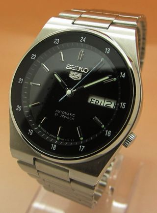 Seiko 5 Snkg23 Durchsichtig Automatik Uhr 7s26 - 0530 21 Jewels Datum & Tag Bild