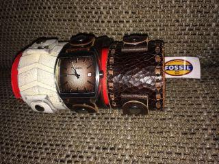 Fossil Uhr Jr 9354 Leder Lederarmband 3 Stück Eins Mit Ovp Bild