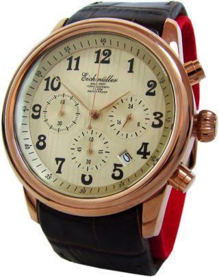 Eichmüller Chronograph Herrenuhr Edelstahl 10atm Classic Design Watch Uvp 199,  95 Bild