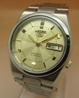 Seiko 5 Durchsichtig Automatik Uhr 7s26 21 Jewels Datum & Taganzeige Bild