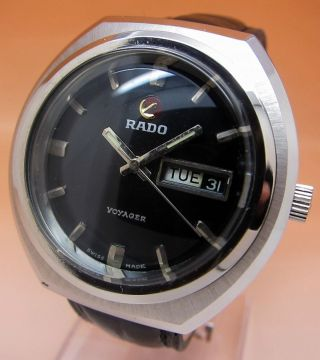 Rado Voyager Datum&tag Atutomatik Uhr 25 Jewels Glasboden Lumi Zeiger Bild