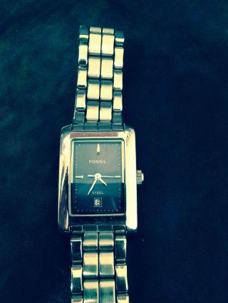 Fossil Armbanduhr Damen Edelstahl Silber Bild