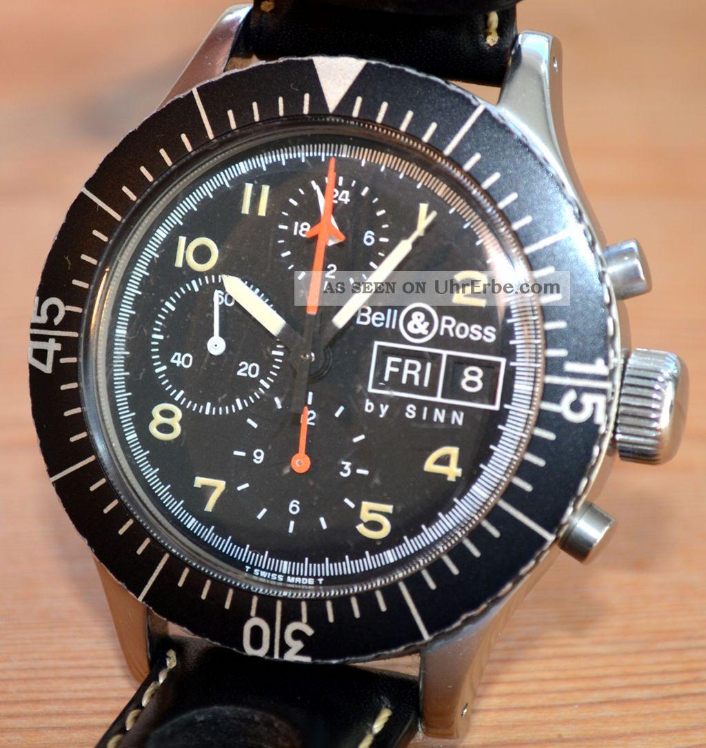 Bell & Ross M1 / Sinn 156 Automatic Chronograph Mit Lemania 5100 Armbanduhren Bild