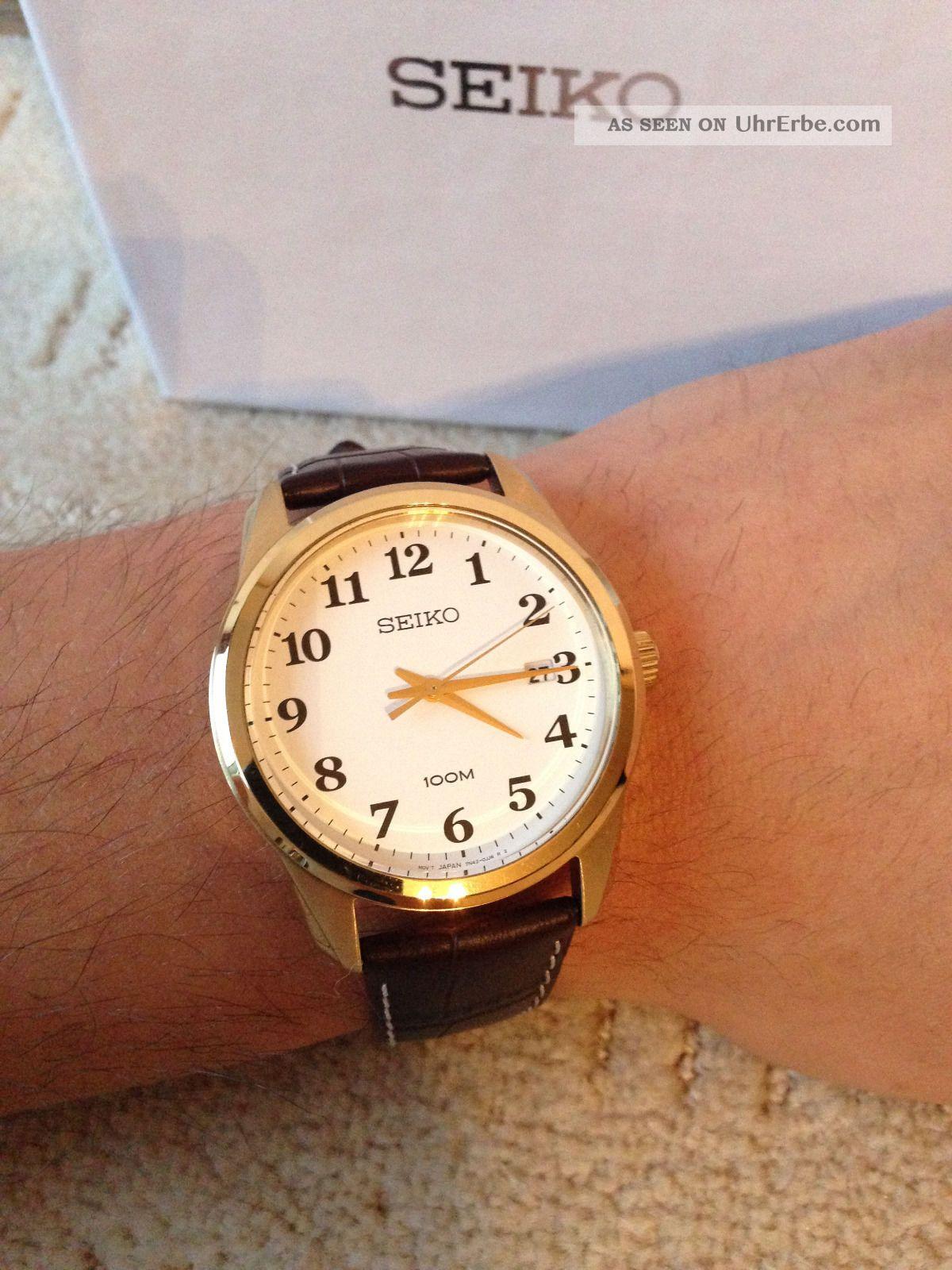 BraunZiffernblatt UhrHerrenLederarmband WeißTop Seiko Seiko Originale BraunZiffernblatt Originale UhrHerrenLederarmband WeißTop OkZuPiTlwX