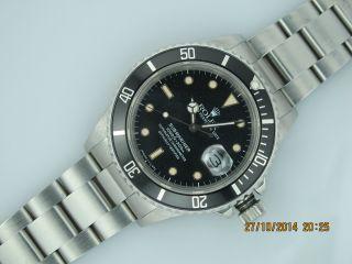 Rolex Submariner Date Steel 168000 Stardust Dial R - Serial 1987 Bild