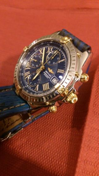 Breitling Crosswind Chronomat Automatik Stahl Gold Herrenuhr B13055 Bild