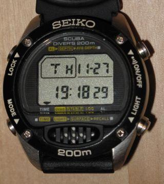 Seiko Scuba Diver`s 200m Kristallglas,  Tiefenmesser,  1000,  00 Dm Neupreis Bild